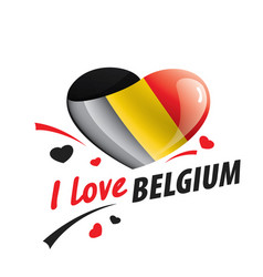 the national flag belgium and the vector image