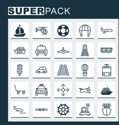 Transportation icons set collection of road vector
