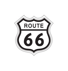 Travel usa sign route 66 label american road icon vector