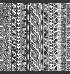 Tribal monochrome pattern seamless vector