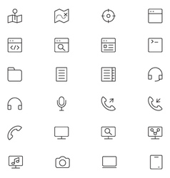 User interface icons 19 vector