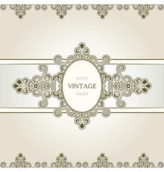 Vintage vignette vector image
