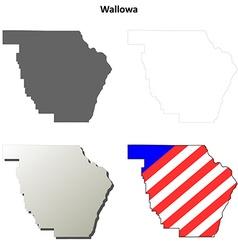 Wallowa Map Icon Set vector