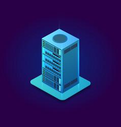 web server computer vector image
