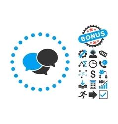 Webinar Flat Icon with Bonus vector image