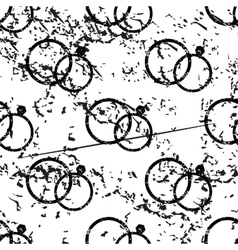 Wedding rings pattern grunge monochrome vector
