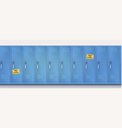 Welcome back to school yellow stickers on blue vector