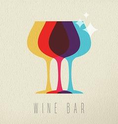 Wine bar concept glass drink icon color design vector