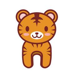 Cartoon tiger animal image vector