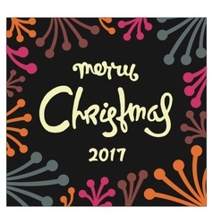 Christmas postcard design vector image