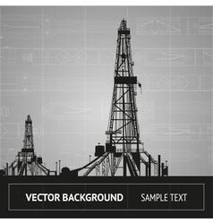Sketch of oil rig vector
