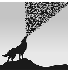 wolf5 vector image vector image
