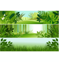 three forest banners vector image vector image