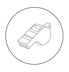 whistle icon outline single sport icon from the vector image