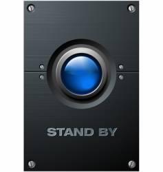 Big blue button vector