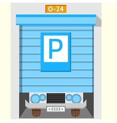 Colored flat icon for parking gate vector image