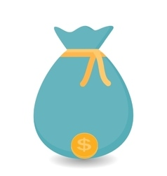 Hand Puts the bag of Gold Coins - Contribution to vector image vector image