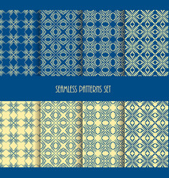repeatable geometric style stylish blue yellow vector image vector image