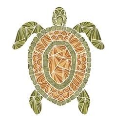 Stylized turtle style zentangle vector image vector image
