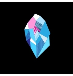 Drawing of a mysterious crystal vector image vector image