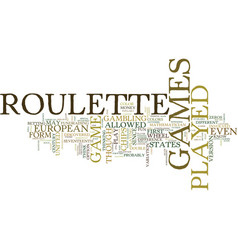 live roulette games text background word cloud vector image vector image
