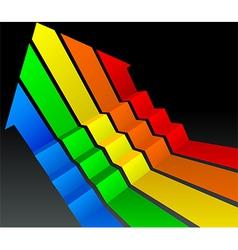 up arrow vector image vector image