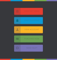 3D call-to-action button set vector