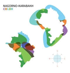 Abstract color map of nagorno-karabakh vector