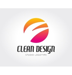 Abstract design studio logo template for vector image