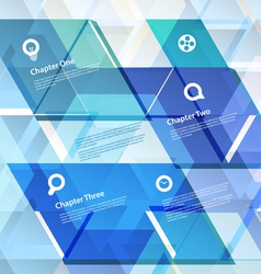Abstract geometric design template vector image