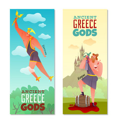 Ancient greece gods banners vector