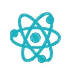 Atom science chemistry vector image