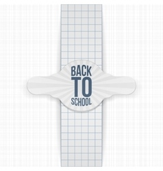 Back to School paper greeting Label vector