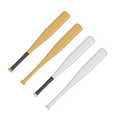 baseball bats set vector image