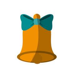 Bell with ribbon bow icon image vector