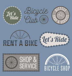 bicycle sign for business vector image