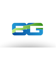 Blue green bg b g alphabet letter logo vector