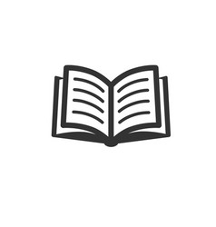 book icon isolated on white vector image
