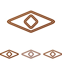 Brown line eye logo design set vector