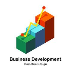 Business development isometric vector