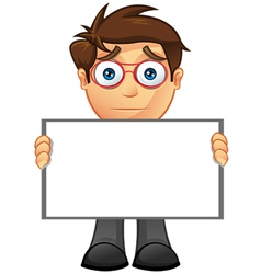 Business Man Blank Sign 13 vector image