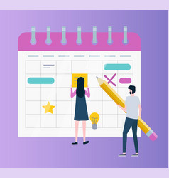Calendar or organizer time management or planning vector