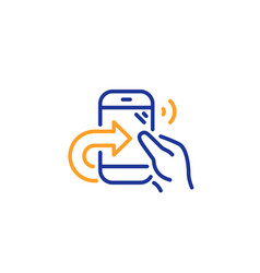 Call center service line icon share phone call vector