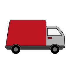 Cargo truck design vector