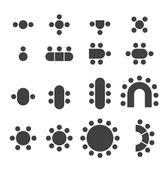 chair icon set vector image