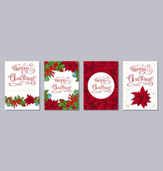 christmas greeting card or invitation set a6 size vector image