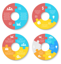 circle puzzle for infographic vector image