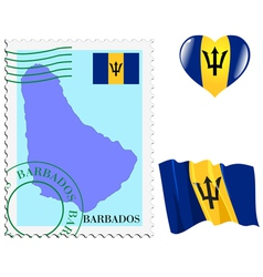 Colours of Barbados vector