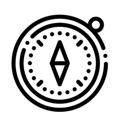 compass alpinism course detector tool icon vector image