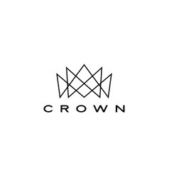crown logo icon line vector image